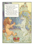 Mother Goose Rhyme, Lion and Unicorn Prints