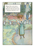 Mother Goose Rhyme, Mistress Mary Posters