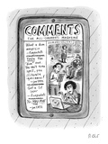 "A tablet displays ""The All-Comments Magazine"" - New Yorker Cartoon Premium Giclee Print by Roz Chast"