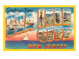 Greetings from Sea Isle City, New Jersey Prints