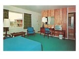 Motel Room with Knotty Pine Walls Prints