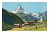 Matterhorn, Findelin Glacier, Swiss Alps Print