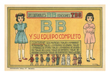 Mexican Paperdolls, Little Girls Print