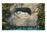 Lion Monument, Lucerne, Switzerland Prints