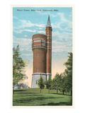 Water Tower, Eden Park, Cincinnati Poster