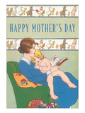 Happy Mother's Day, Reading to Child Art