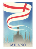 Travel Poster, Milan, Italy Posters
