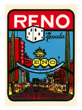 Reno, Nevada Decal Posters