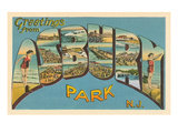 Greetings from Asbury Park, New Jersey Print