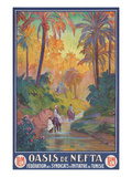 Nefta Oasis, Tunisia, Travel Poster Plakat