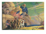 Uncle Sam Saluting Soldiers and Sailors Posters