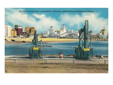 Long Beach Skyline, California Posters