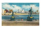 Long Beach Skyline, California Prints