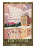 Travel Poster for Font-Romeu, France Premium Giclée-tryk