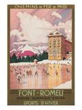 Travel Poster for Font-Romeu, France Plakaty
