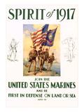 World War I Marines Recruitment Poster Kunstdrucke