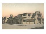 Vintage La Fonda Hotel, Santa Fe, New Mexico Prints