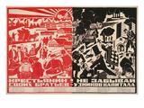 Soviet Propaganda Poster Poster