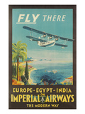 Biplane Clipper, Imperial Airways Reproduction giclée Premium