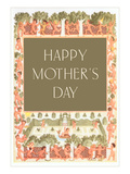Happy Mother's Day, Children Frolicking Posters