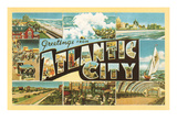 Greetings from Atlantic City, New Jersey Print