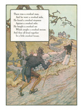 Mother Goose Rhyme, Crooked Man Poster