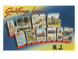 Greetings from Long Branch, New Jersey Prints