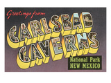 Greetings from Carlsbad Caverns, New Mexico Prints