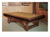 Pool Table in Rec Room Posters