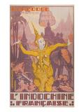 Travel Poster for Cambodia Kunstdrucke