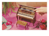 Music Box Shaped Like Piano Posters