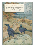 Mother Goose Rhyme, Two Blackbirds Prints