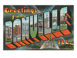 Greetings from Danville, Illinois Posters