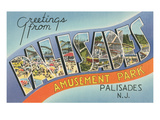 Greetings from Palisades Park Prints