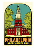 Independence Hall, Philadelphia, Decal Poster