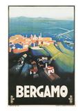Travel Poster for Bergamo, Italy Poster