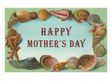 Happy Mother's Day, Seashell Border Poster
