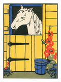 Horse Looking Out of Stall Prints