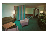 Motel Suite in Lavender and Blue Poster