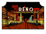Trunk Label, Reno, Nevada Posters