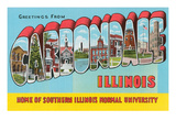Greetings from Carbondale, Illinois Posters