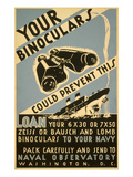 Loan Your Binoculars, WW II Navy Poster Posters