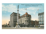 Monument, Allentown, Pennsylvania Prints