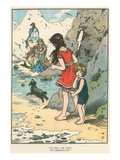 Children Watching Mermaids Print