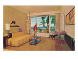 Motel Room on Beach Posters