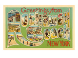 Greetings from Rockaway Beach, New York Poster