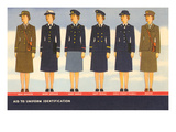 Women's Military Uniform Identification Prints