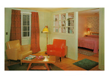 Motel Suite with Bright Furniture Posters