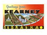 Greetings from Kearney, Nebraska Kunstdruck