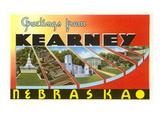 Greetings from Kearney, Nebraska Kunstdruck
